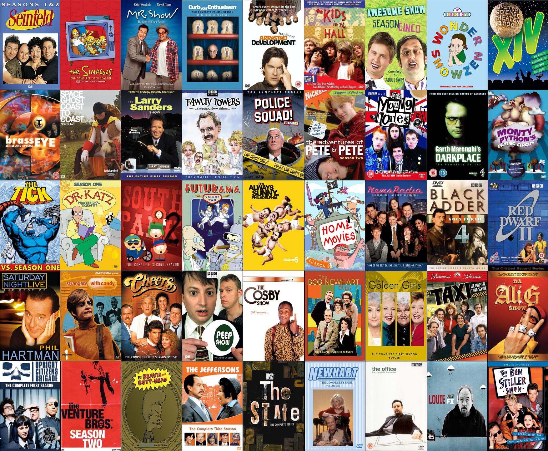 eclectic list of tv shows i ve watched over the years how many